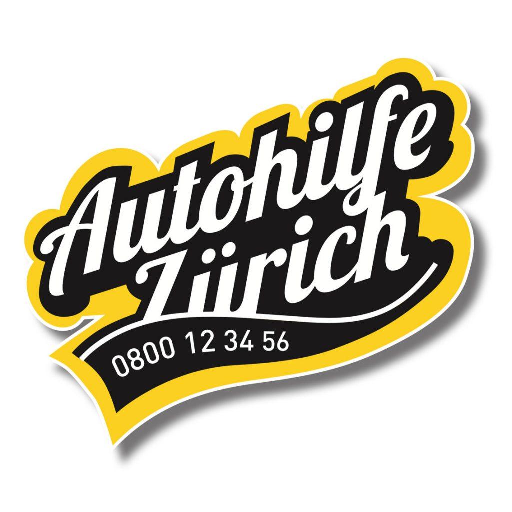 Schwarzarbeit entwickelt einen neuen Logo für die Autohilfe in Zürich